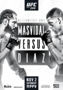 UFC 244 Masvidal vs Diaz fight poster