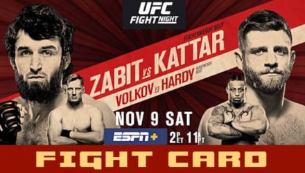 UFC Moscow Zabit vs Kattar fight card