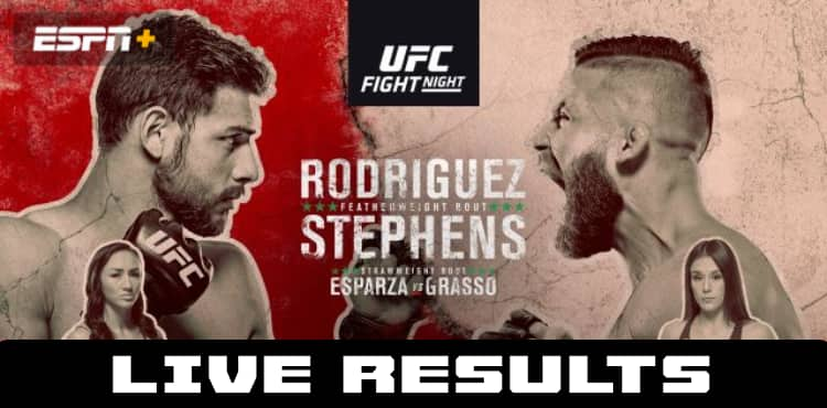 UFC Rodriguez vs Stephens live results