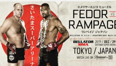 Bellator-Rizin Fedor vs Rampage fight poster