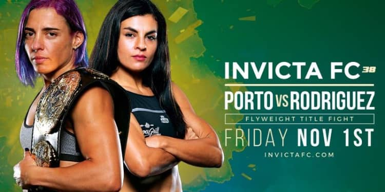 Invicta FC 38 Porto vs Rodriguez fight poster