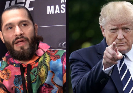 Jorge Masvidal and U.S. President Donald Trump