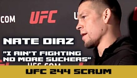 UFC 244 Nate Diaz scrum