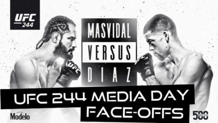 UFC 244 media day faceoffs