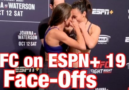 UFC on ESPN+ 19 weigh-in face-offs