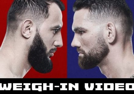 UFC on ESPN 6 Reyes vs Weidman weigh-in video