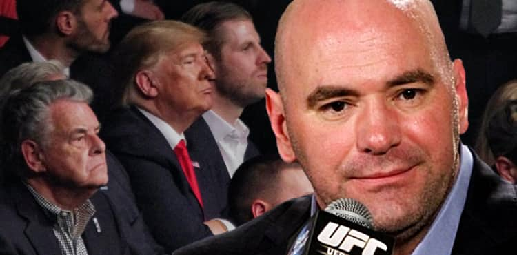 Dana White over Donald Trump at UFC 244