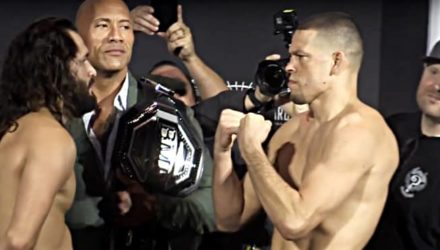 Jorge Masvidal - Nate Diaz- Dwayne Rock Johnson