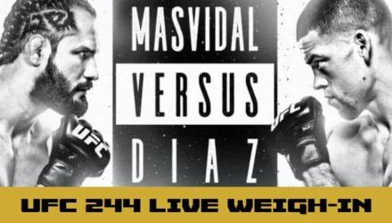 UFC 244 Masvidal vs Diaz live weigh-in