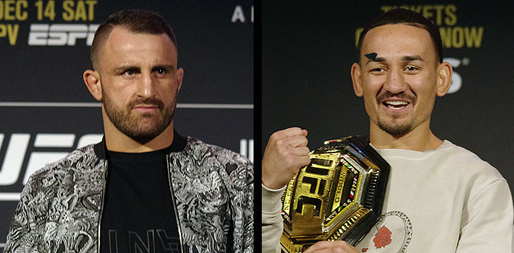 Alexander Volkanovski and Max Holloway - UFC 245