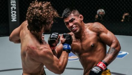 Agilan Thani punches Dante Schiro at ONE Mark of Greatness