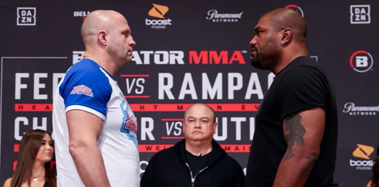 Fedor vs Rampage Bellator Japan weigh-in staredown