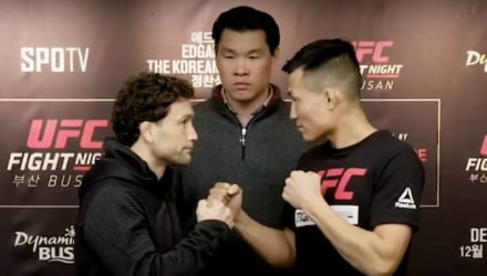 Frankie Edgar vs Korean Zombie UFC Busan faceoff