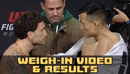 Frankie Edgar vs Korean Zombie UFC Busan weigh-in