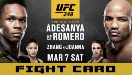 UFC 248 Adesanya vs Romero fight card