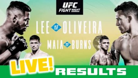 UFC Brasilia Lee vs Oliveira live results