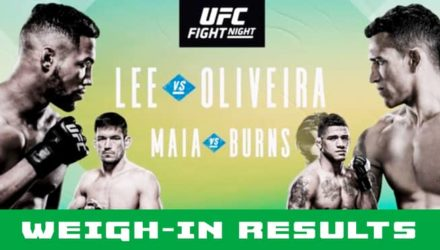 UFC Brasilia Lee vs Oliveira weigh-in results