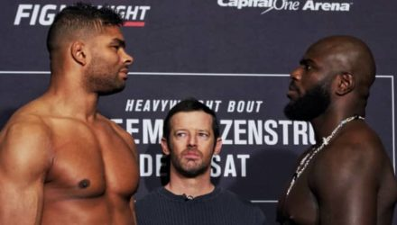UFC DC - Overeem vs Rozenstruik weigh-in faceoff