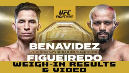 UFC Norfolk Benavidez vs Figueiredo weigh-in results and video