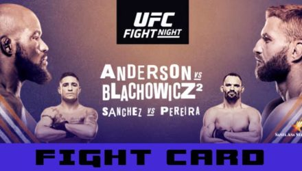 UFC Rio Rancho Anderson vs Blachowicz fight card