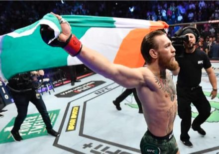 Conor McGregor Irish Flag at UFC 246