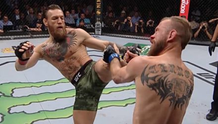 Conor McGregor kicks Cowboy Cerrone UFC 246 Fight Motion