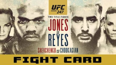 UFC 247 Jones vs Reyes fight card