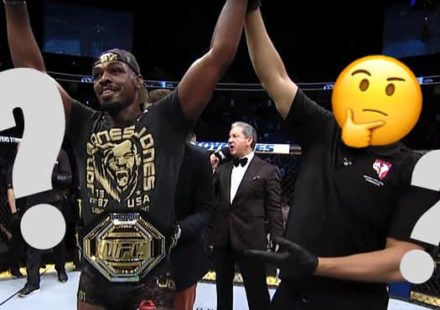 Jon Jones questioning the win