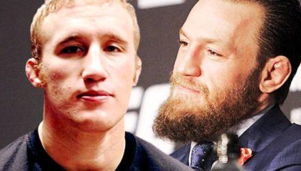 Justin Gaethje and Conor McGregor
