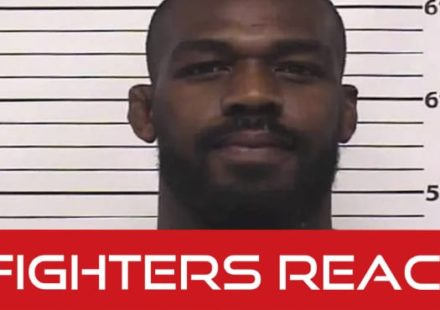 Jon Jones fighters react to arrest