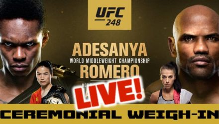 UFC 248 Adesanya vs Romero live weigh-in video