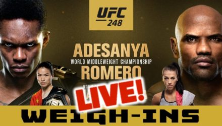 UFC 248 Adesanya vs Romero live weigh-ins site