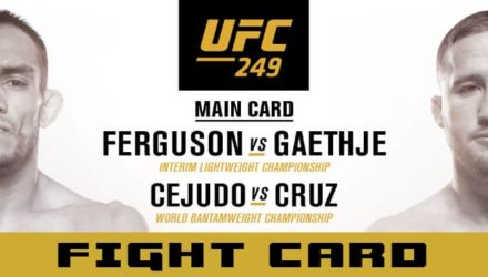 UFC 249 Ferguson vs Gaethje fight card