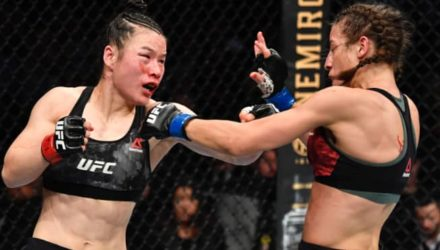 Zhang Weili cracks Joanna Jedrzejczyk at UFC 248