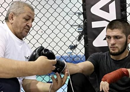 Abdulmanap (father) and Khabib Nurmagomedov
