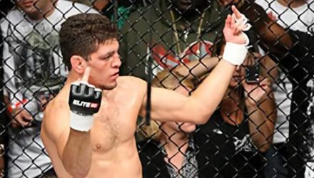 Nick Diaz Elite XC double flip fingers