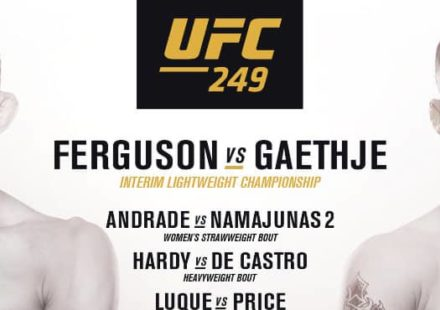 UFC 249 fight card poster chop