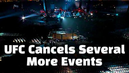 UFC Octagon - more events canceled