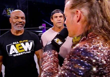 Mike Tyson with Henry Cejudo and Vitor Belfort