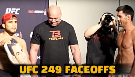 UFC 249 faceoffs video