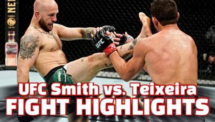 UFC Smith vs Teixeira fight highlights