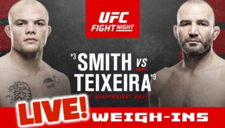UFC Smith vs Teixeira live weigh-ins