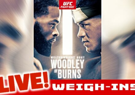UFC Woodley vs Burns live weigh-ins