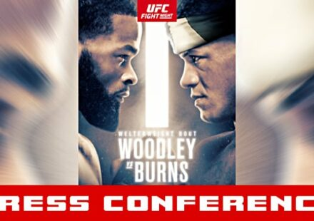 UFC Woodley vs Burns press conference