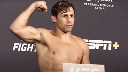 Urijah Faber at UFC on ESPN 8 weigh-in