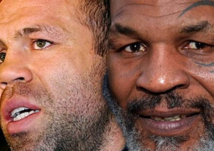 Wanderlei Silva and Mike Tyson