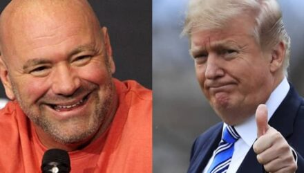 Dana White and Donald Trump