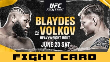 UFC Blaydes vs Volkov fight card