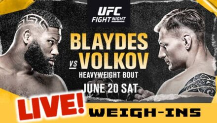 UFC Blaydes vs Volkov live weigh-ins
