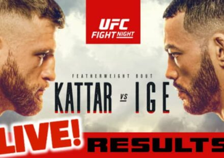 UFC Fight Island Kattar vs Ige live results